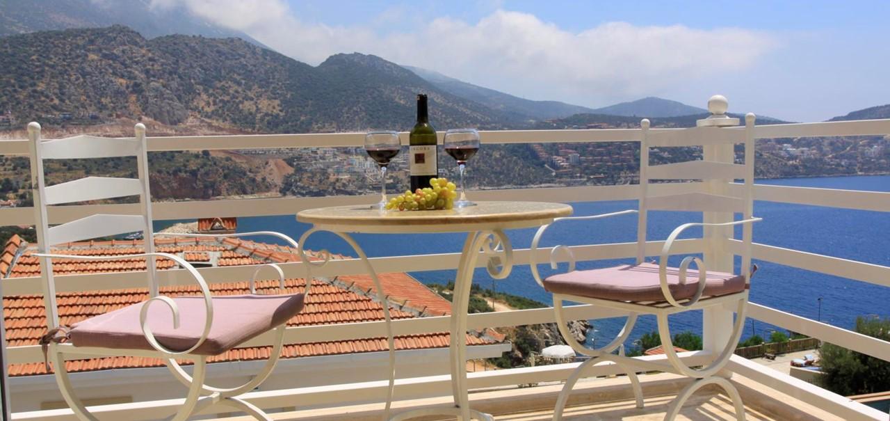 Enjoy a glass of wine on your balcony