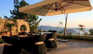 Enjoy evening meals on the terrace