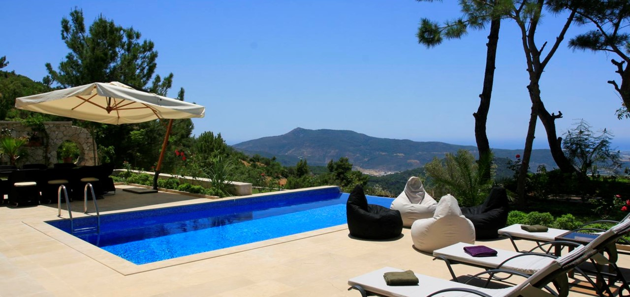 Exquisite Kalkan Mountain Villa To Rent With Private Pool Wifi