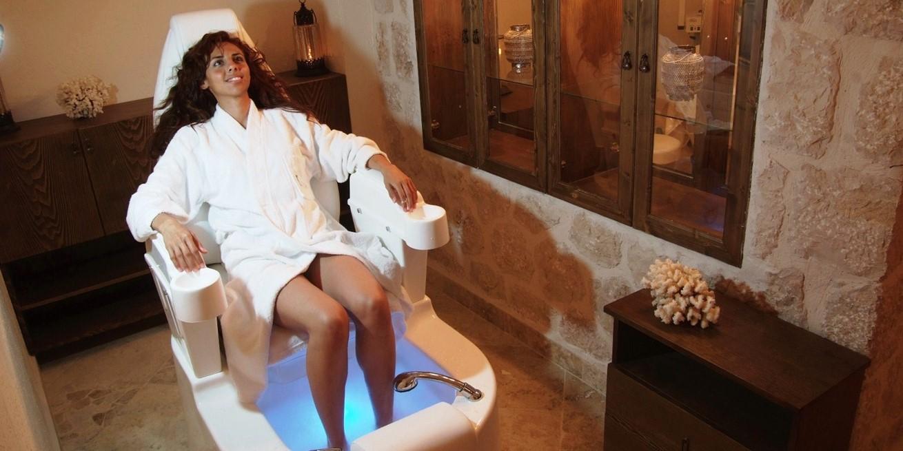 Foot spa at The Likya Hotel