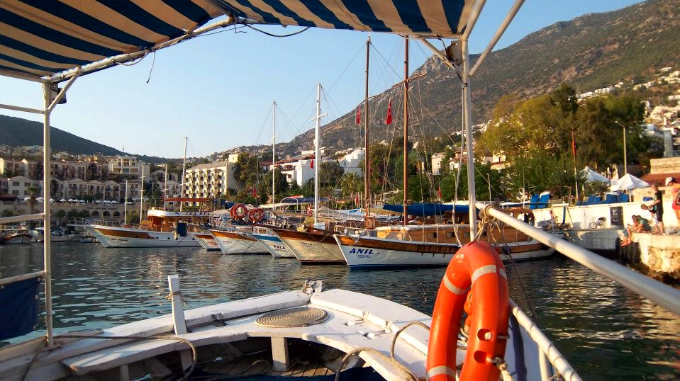 Water taxi to and from Kalkan harbour