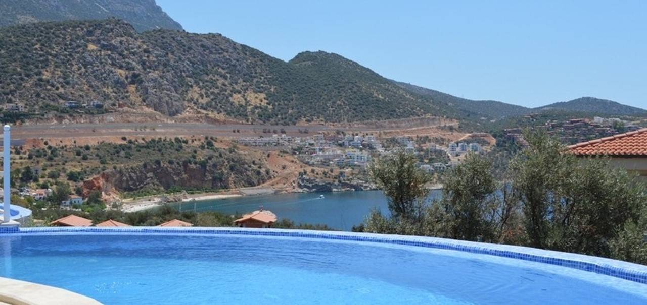 Infinity pool overlooking Kalkan bay