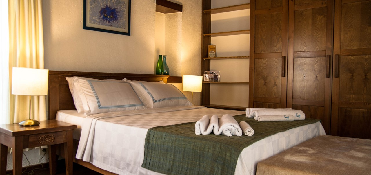 Rooms are well furnished and have plenty of storage space