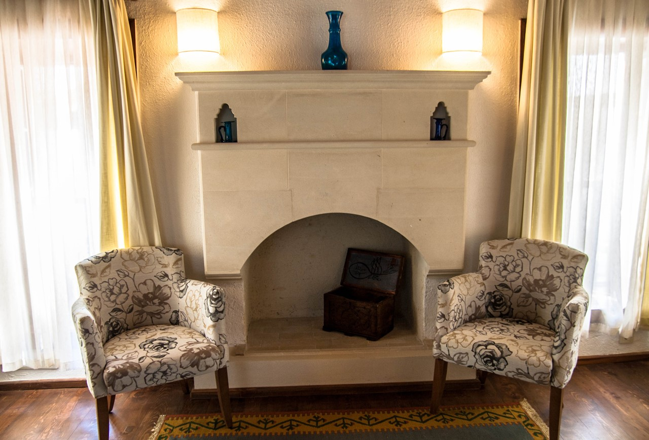 Original fireplaces feature throughout