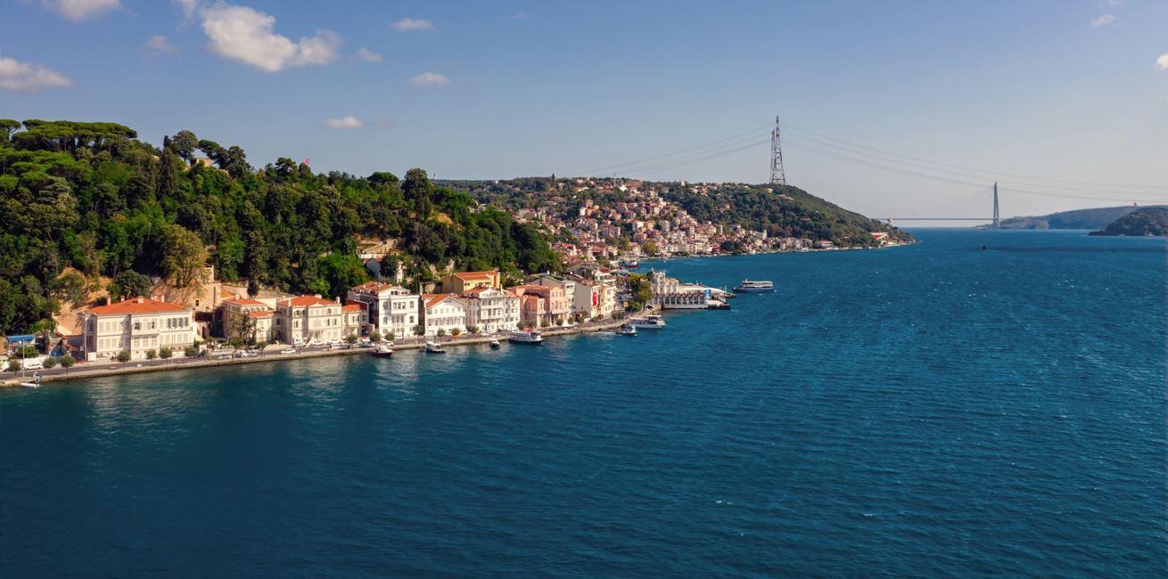 Aerial View Of Bosphorus 8714 A4