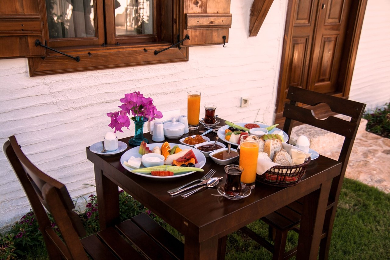 Enjoy breakfast outside your room