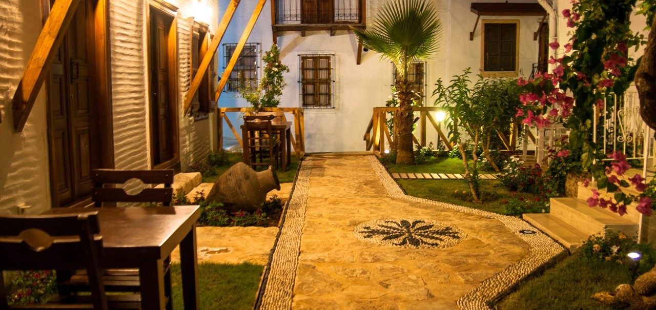 The beautiful Courtyard Hotel in Kalkan