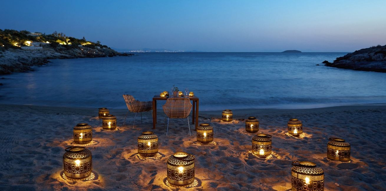 Candle Light Dinner Beach 7796 A4