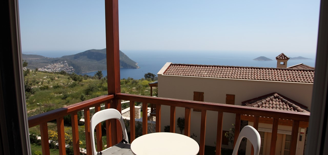 There are two sea view balconies at Baytok