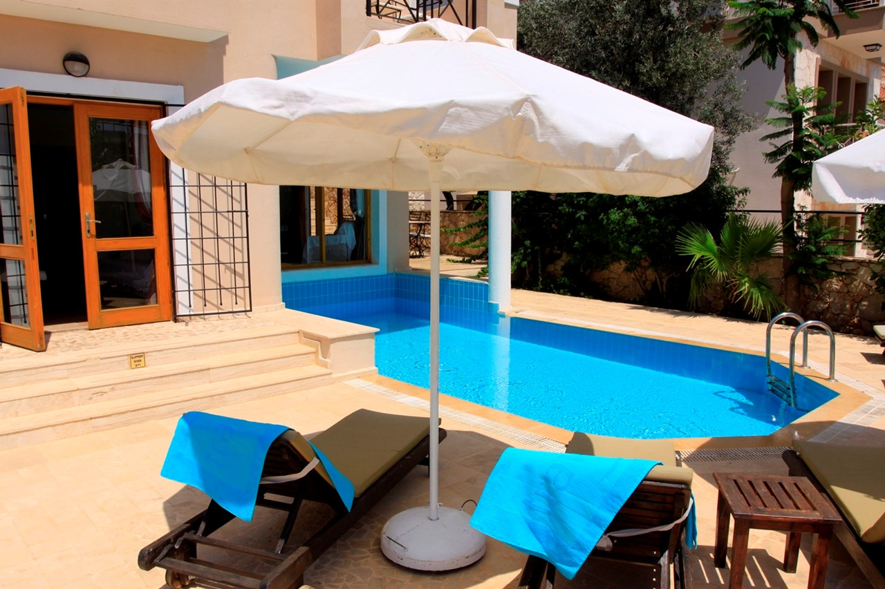 Villa Badem terrace and private pool