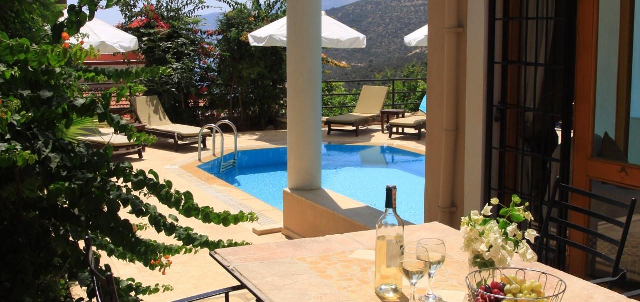 Furnished dining terrace at Villa Badem