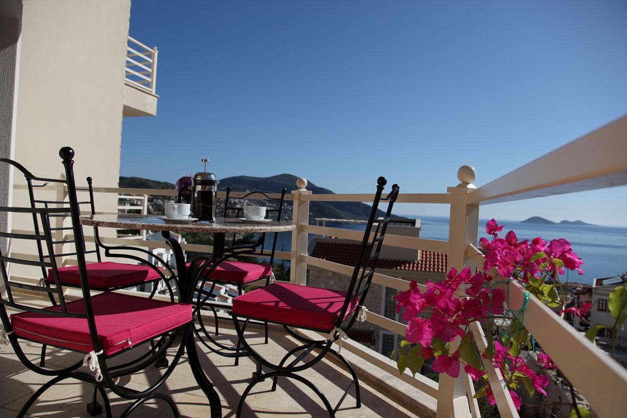 Furnished balconies