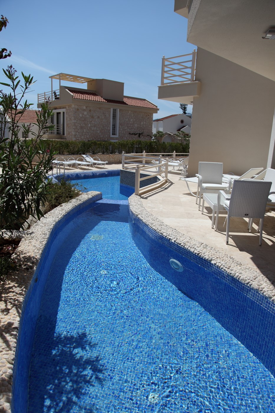 Private plunge pool and private terrace