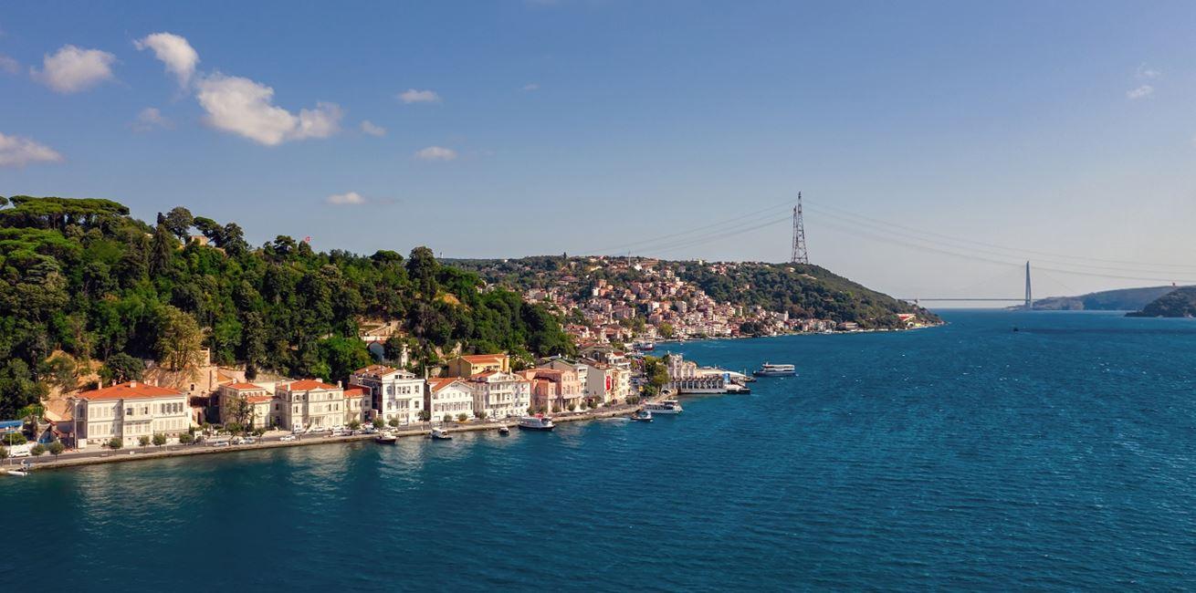 Aerial View Of Bosphorus 8714 ORIGINAL