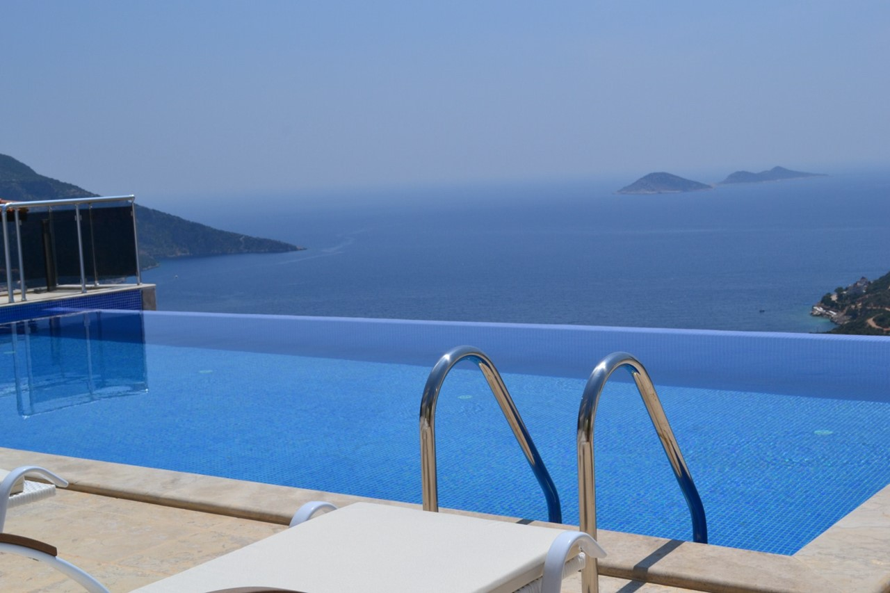 Infinity pool with fantastic sea views