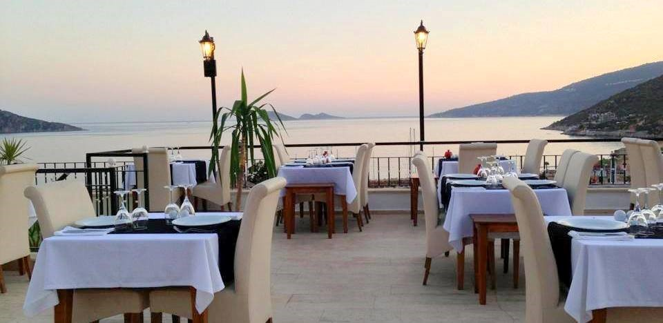 The fabulous views from the Nar terrace restaurant in Kalkan