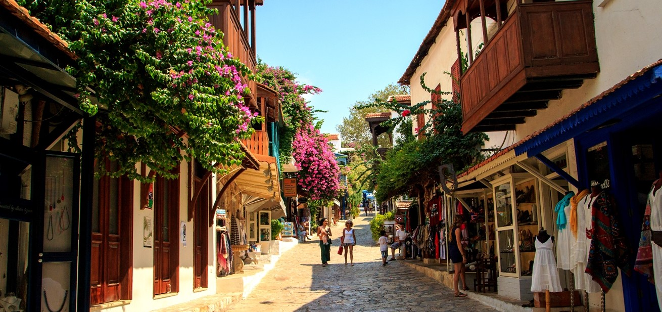 Shopping in the streets of Kas