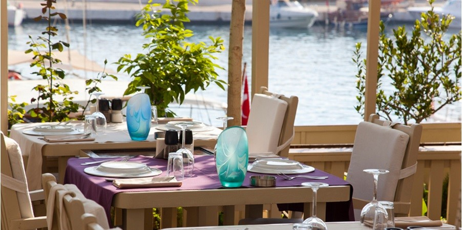 Aubergine restaurant on the waterfront