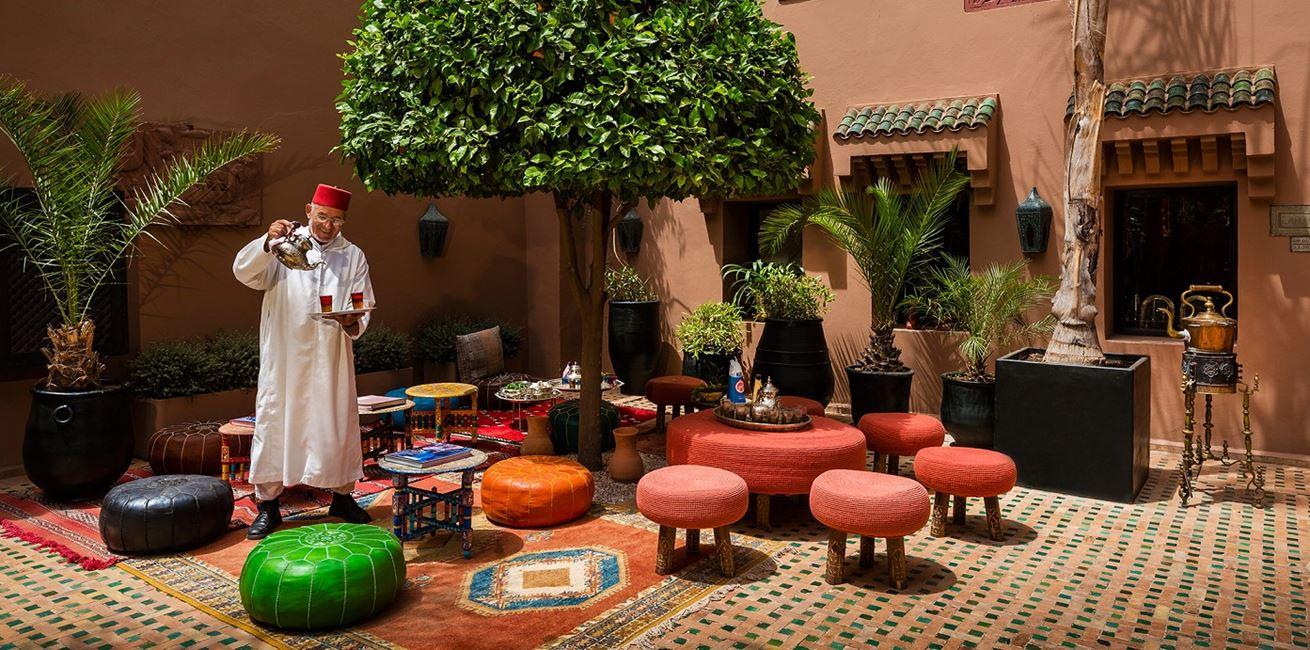 28 Kasbah Tamadot Moroccoan Tea Courtyard