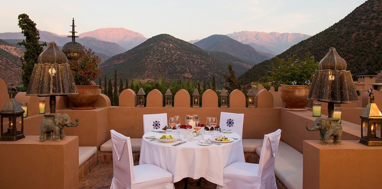 Dinner On Roof Terrace