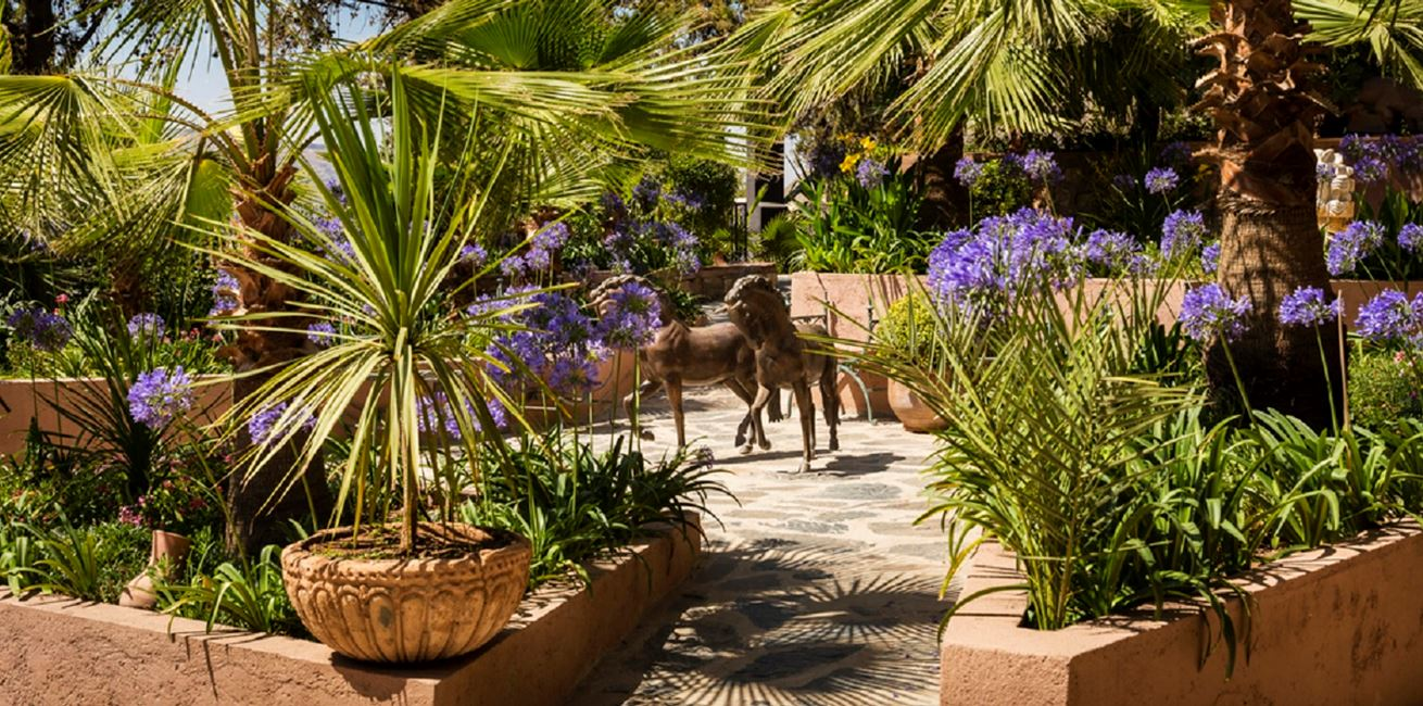Entrance Garden Area Kasbah Tamadot