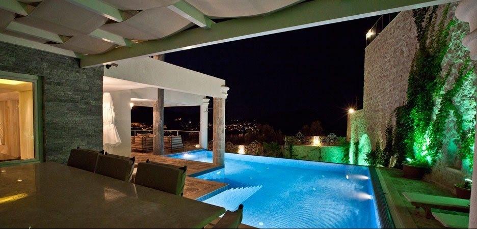 Dine alfresco on the sea view terrace