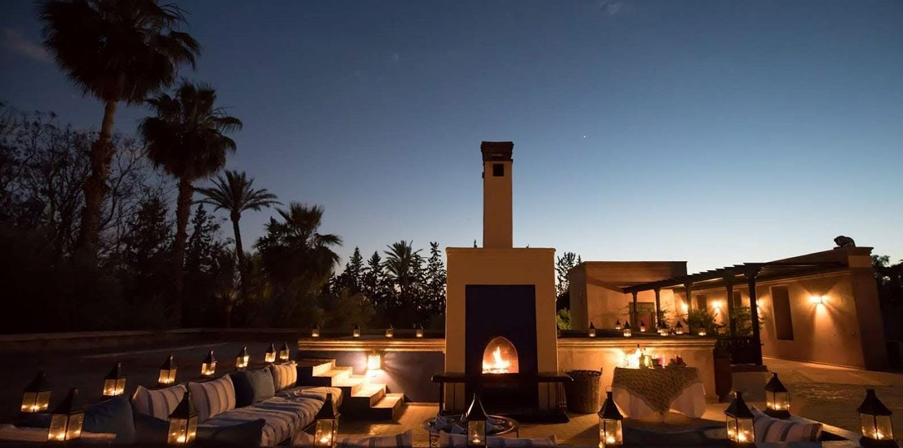 Villa Ezzahra 32Roof Terrace By Night