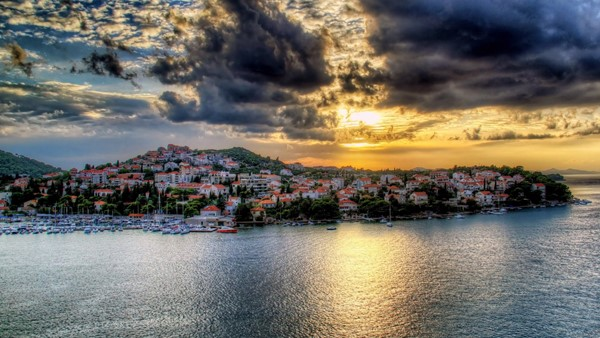 Croatia Houses Sea Sky Coast Dubrovnik