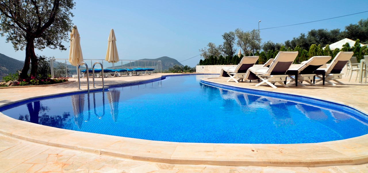 Villa elia kalkan villa for holiday rental the turquoise - Suffolk hotels with swimming pool ...
